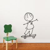 Skateboard Hero Wall Decal