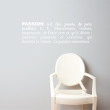 Passion (french) Wall Decal