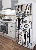 Urban Graffiti Refrigerator Decal