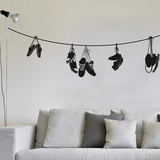 Stringed Shoes Wall Decal