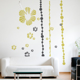 Tumbling Blooms Wall Decal