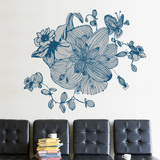 Blue Blossoms Wall Decal