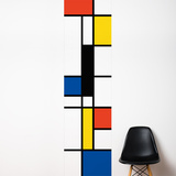 Pop Mondrian  Wall Decal