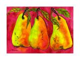 Hot Pink Pear Art