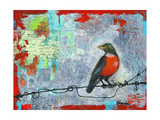 Red Robin Love Letters Art Painting