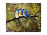 Print Art Bluebird Trio