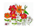Floral & Hummingbird