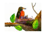 Robin Love Bug Print