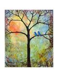 Tree Print Art Birds Sunshine Bluebirds Reproduction d'art par Blenda Tyvoll