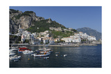 View of Amalfi Harbor  Campania  Italy