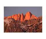 Sunrise Alpenglow On Mount Whitney