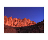 Mount Whitney From Trail Camp At Sunrise