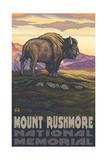 Mount Rushmore Bison pal 1994