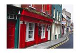 Pubs Lined Street  Kinsale  Ireland