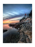 Bass Harbor Head Lighthouse at Sunset  Maine