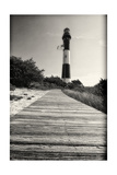 Wooden Path to the Lighthouse  Fire Island  NY