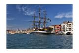 Tall Ship in Venice Harbor  Italy
