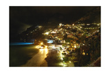 Positano Night Scenic View  Amalfi Coast  Italy