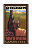 Oregon Wine Country Reproduction d'art par Paul A Lanquist