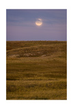 Moonrise Over Badlands South Dakota