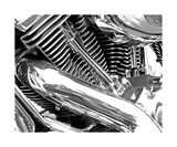 Black And White Chrome Motorcycle Engine