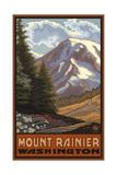 Mount Rainier with Wildflowers