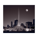 Buckingham Fountain Nightlight Chicago BW