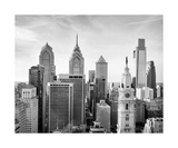 Philadelphia Skyline Black And White Photograph