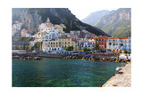 Amalfi Town Coastal View  Campania  Italy