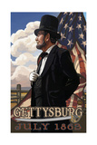 Gettysburg Lincoln with Flag PAL 955