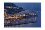 High Angle View of Amalfi at Night  Campania  Italy