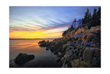 Lighthouse on a Cliff at Sunset  Bass Harbor  ME