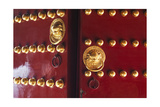 Doors to Temple of Heaven  Beijing  China