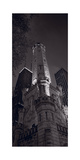 Chicago Water Tower Panorama B W