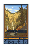 Multnomah Falls Oregon Steam Train