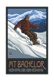 Snowboarder Mt Bachelor Oregon Pal 264