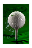 Green Golf Ball Splash