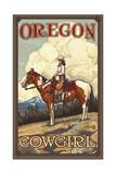 Oregon Summer Cowgirl Pal 089 Reproduction d'art par Paul A Lanquist