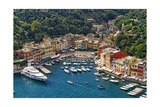 Portofino Harbor From Above  Liguria  Italy