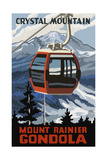 Crystal Mountain Gondola Winter Mt Rainier