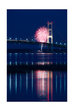 Mackinac Bridge Fireworks