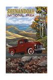 Shenandoah National Park Red Truck Pal 2693