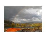 Double Rainbow Clearing Storm Thousand Island Lake