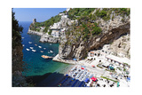 Small Amalfi Coast Beach at Praiano  Italy