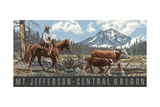 cattle herd in central oregon