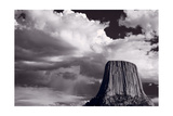 Devils Tower Wyoming BW
