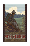 Hiking in the Great Smoky Mountains National Park Reproduction d'art par Paul A Lanquist
