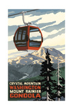 Crystal Mountain Gondola Summer Mount Rainier