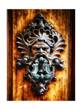 Angry Man Face Door Knocker in Florence