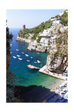Beach in a Cove  Praiano  Amalfi Coast  Italy